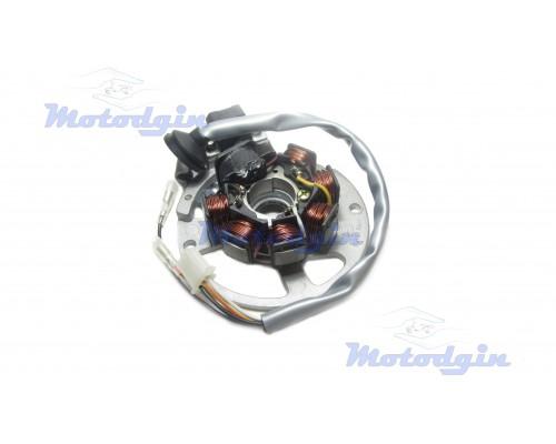 Статор генератора Yamaha JOG (6+1 катушек, 5 проводов)