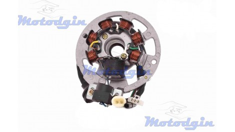 Статор генератора Yamaha JOG 50 (6+1 катушек, 6 проводов)