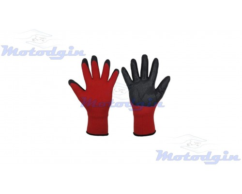 Перчатки вязаные прорезиненные