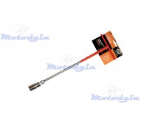 Свечной ключ 16mm с шарниром длинный
