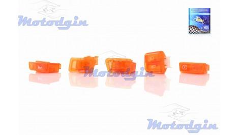 Кнопки руля набор GY6 50/125/150 прозрачные