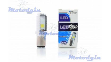 Лампа в фару BA20D (2 уса) Led Mini