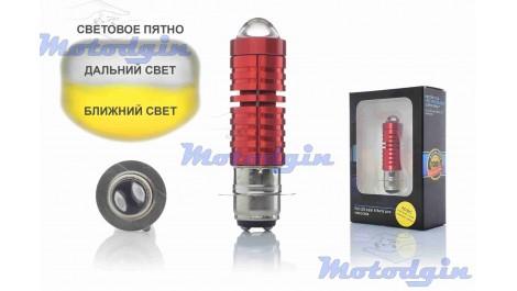 Лампа в фару P15D-25-1 ( 1ус) линза Led