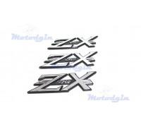 Наклейки буквы ZX dio объемные
