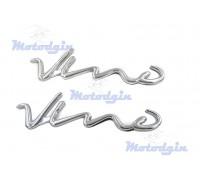 Наклейки буквы Vino пропись объемные