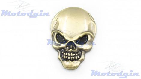 Наклейки объемные Skull бронза