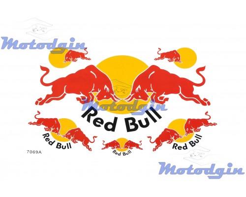 Наклейки спонсор Red Bull #7069A