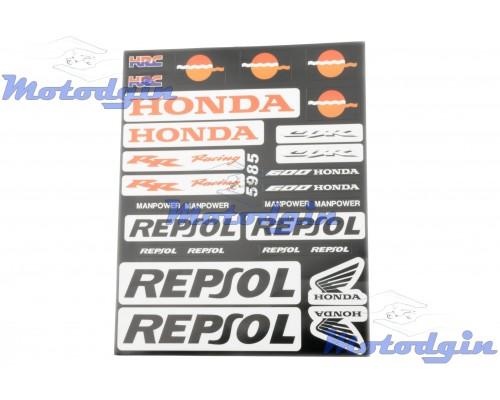 Наклейки спонсор Honda Repsol #5985