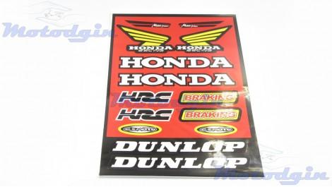 Наклейки Honda набор #281025