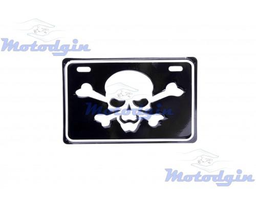 Номерной знак декоративный Skull