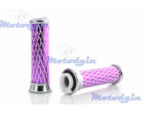 Ручки руля универсальные алюминиевые чешуя