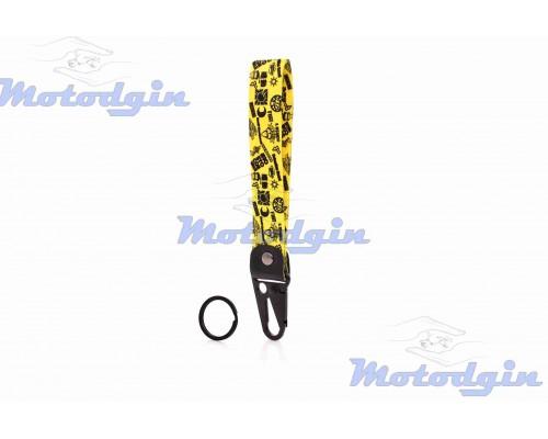 Шнурок для ключей 150мм железный карабин