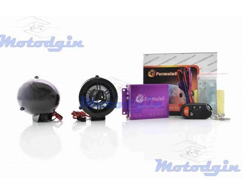 Аудио система 2.0 MP3 с сигнализацией
